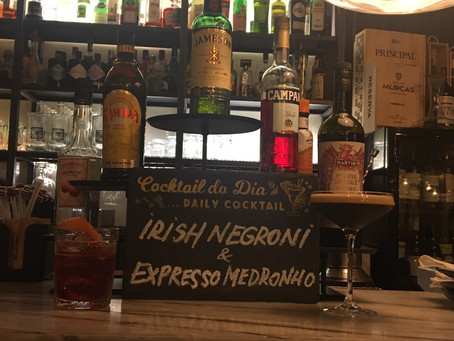 Cocktails apresentados no Lisboa é Linda    Irish Negroni e Expresso Medronho