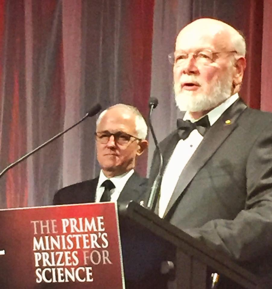 Last year's winner Prof Rick Shine