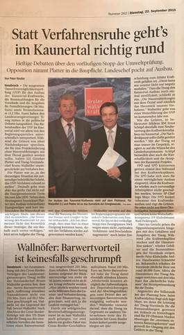 Tiroler Tageszeitung 22.09.2015