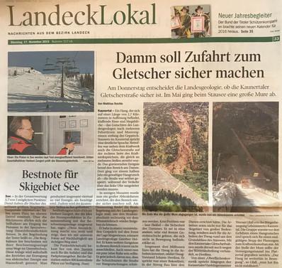 Tiroler Tageszeitung 17.11.2015