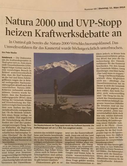 Tiroler Tageszeitung 11.03.2014