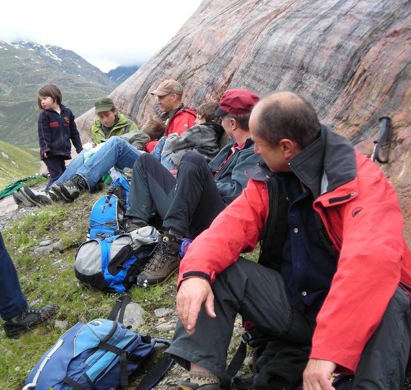 Gletscher-Schliff Felsen