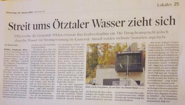 Tiroler Tageszeitung 25.02.2021