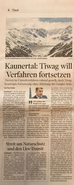 Tiroler Tageszeitung 17.12.2017