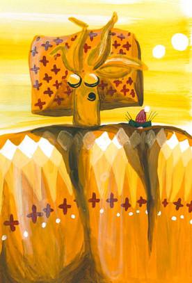 """Kinderbuch """"Die Reise des Herr Sonnenstrahl"""" mit 24 illustrierten Seiten. Siehe auch unter Design."""