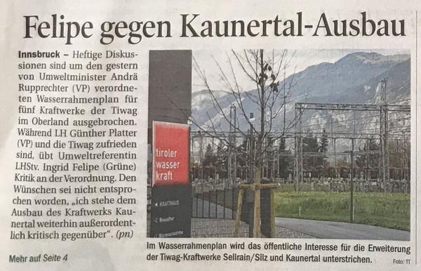 Tiroler Tageszeitung 04.11.2014