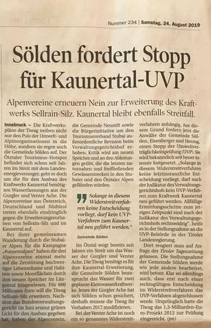 Tiroler Tageszeitung 24.08.2019