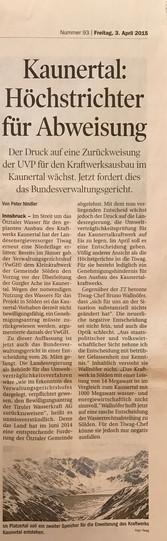 Tiroler Tageszeitung 03.04.2015