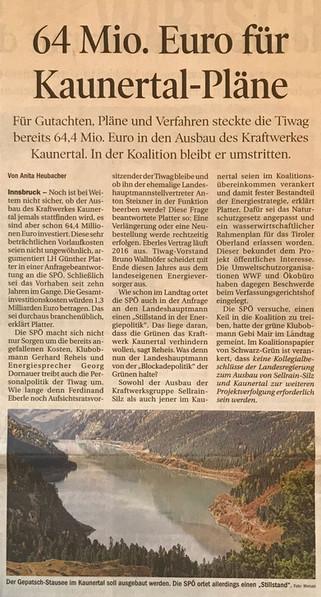 Tiroler Tageszeitung 18.11.2015