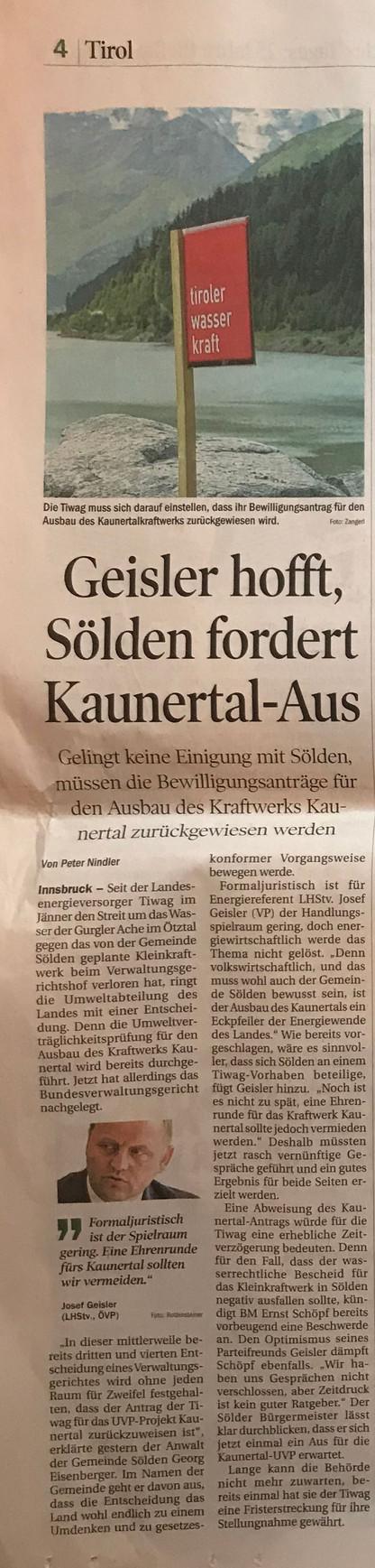 Tiroler Tageszeitung 04.04.2015