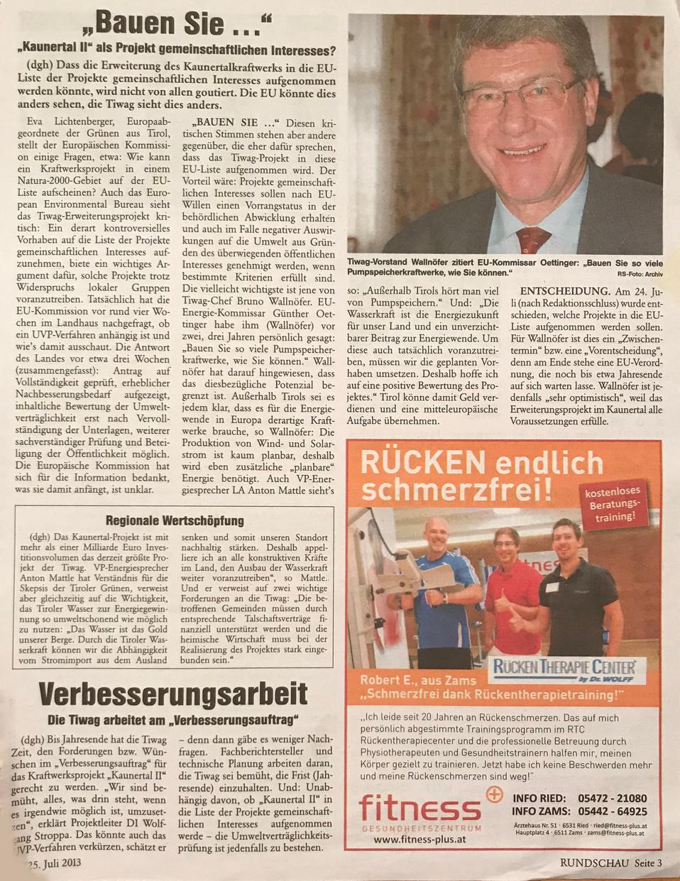 Rundschau 25.07.2013