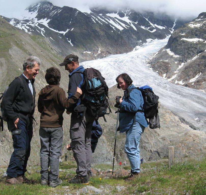 Blick auf die Gletscher-Zunge des Gepatsch-Ferners