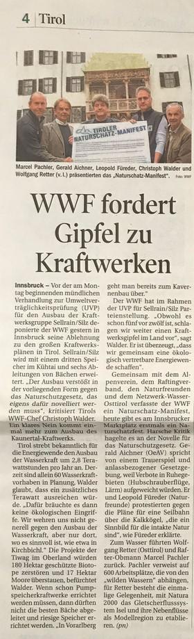 Tiroler Tageszeitung 25.10.2014