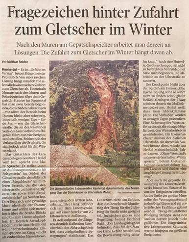 Tiroler Tageszeitung 11.07.2015