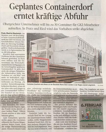 Tiroler Tageszeitung 04.02.2015