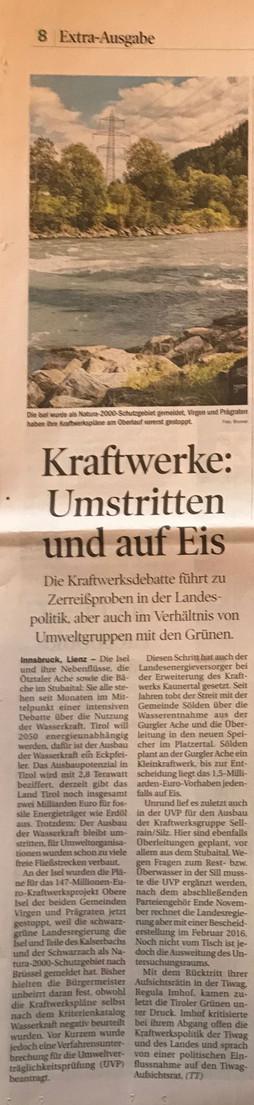 Tiroler Tageszeitung 21.10.2015
