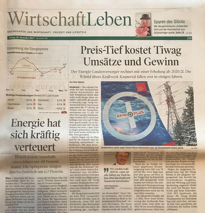 Tiroler Tageszeitung 29.12.2017