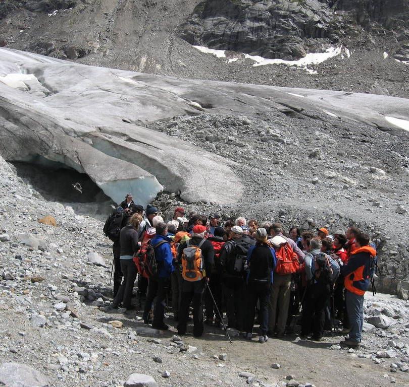 Am Fuße der Gletscher-Zunge des Gepatsch-Ferners