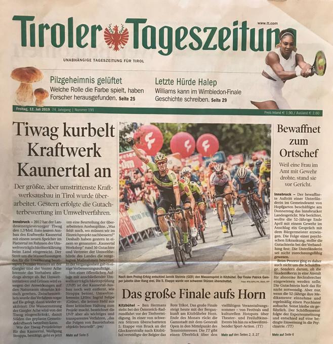 Tiroler Tageszeitung 12.07.2019