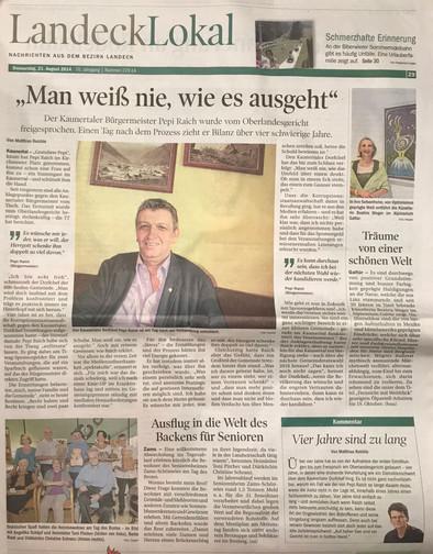 Tiroler Tageszeitung 21.08.2014