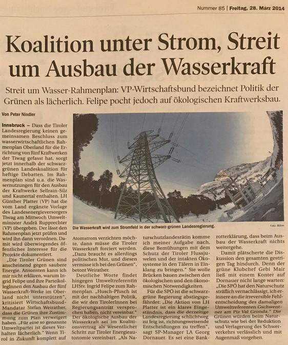 Tiroler Tageszeitung 28.03.2014