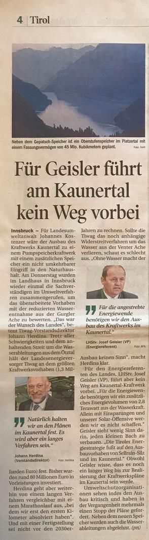 Tiroler Tageszeitung 13.07.2019