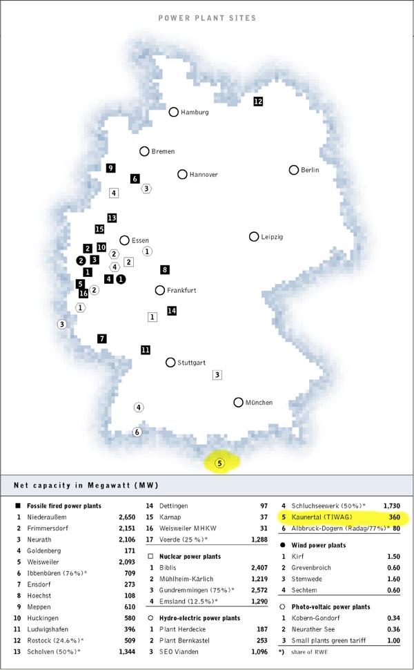 RWE Karte