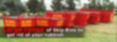 banner of skip bin ranges