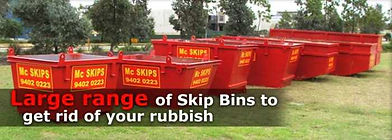 banner of skip bin ranges