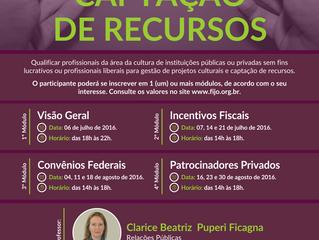 """Novo curso da FIJO: """"Captação de Recursos"""""""