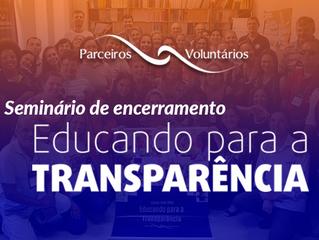 Seminário de encerramento - Educando para a Transparência