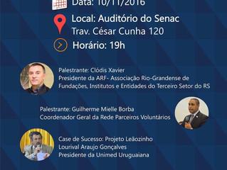 Seminário do 3º Setor acontecerá em Uruguaiana/RS