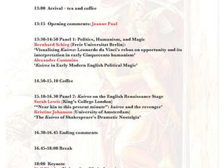 Event: The Renaissance Opportune Moment - 12 November
