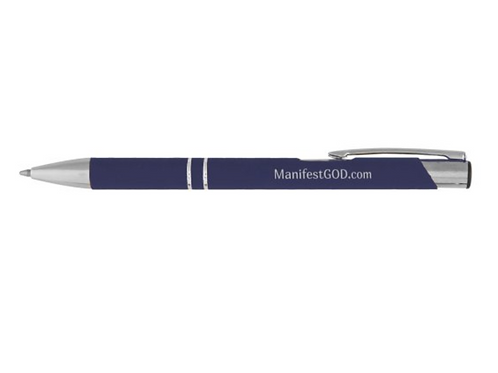 Manifest GOD Pen - Navy Blue