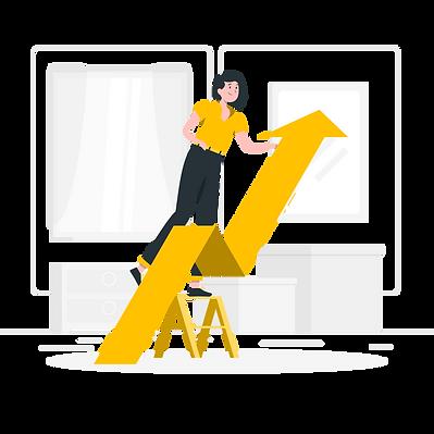 Crescimento, gestão de vendas