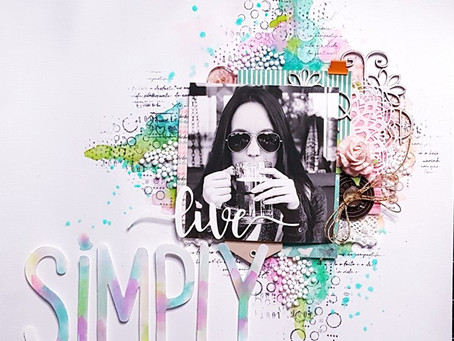Live Simply - Layout Scrapbook