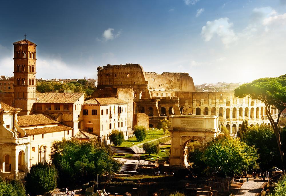 Colosseum, Roman Forum, Palatine Hill, Gladiator fights, Arena, Cesar
