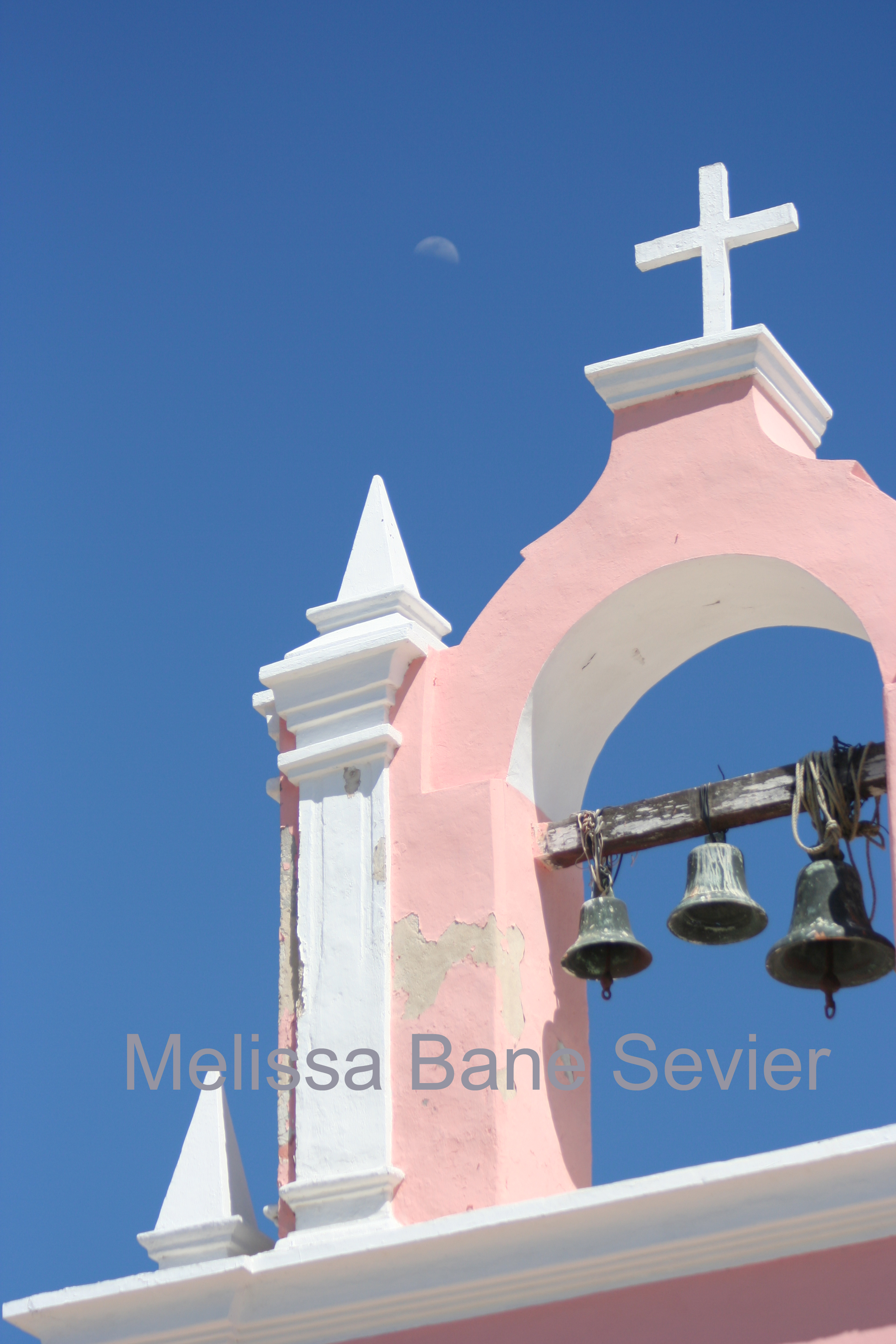 Mexican Church with Moon