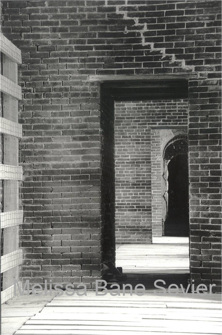 doorway in Maine fort