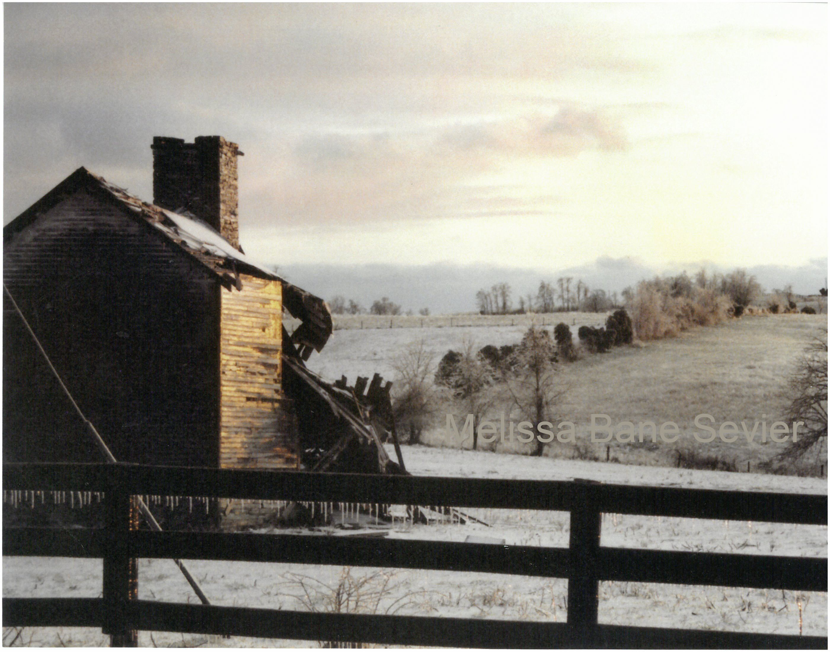 Farm Ruins in Snow