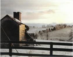 Farm Ruins in Snow