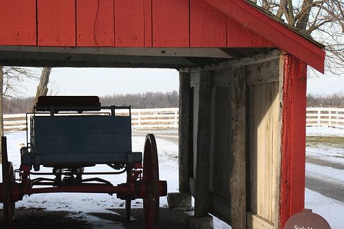 Wagon on a Snowy Day