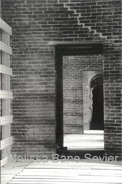 doorway in Maine fort