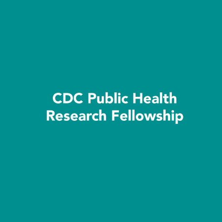 CDC Public Health Research Fellowship