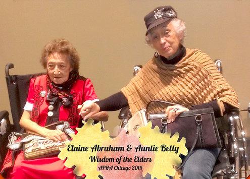 Elaine Abraham and Auntie Bettie