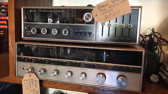 Vintage Rotel and JVC Receivers Refurbished