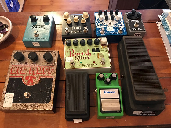 Guitar Pedals - Big Muff, MXR, Tune Screamer, Strymon, Earthquaker