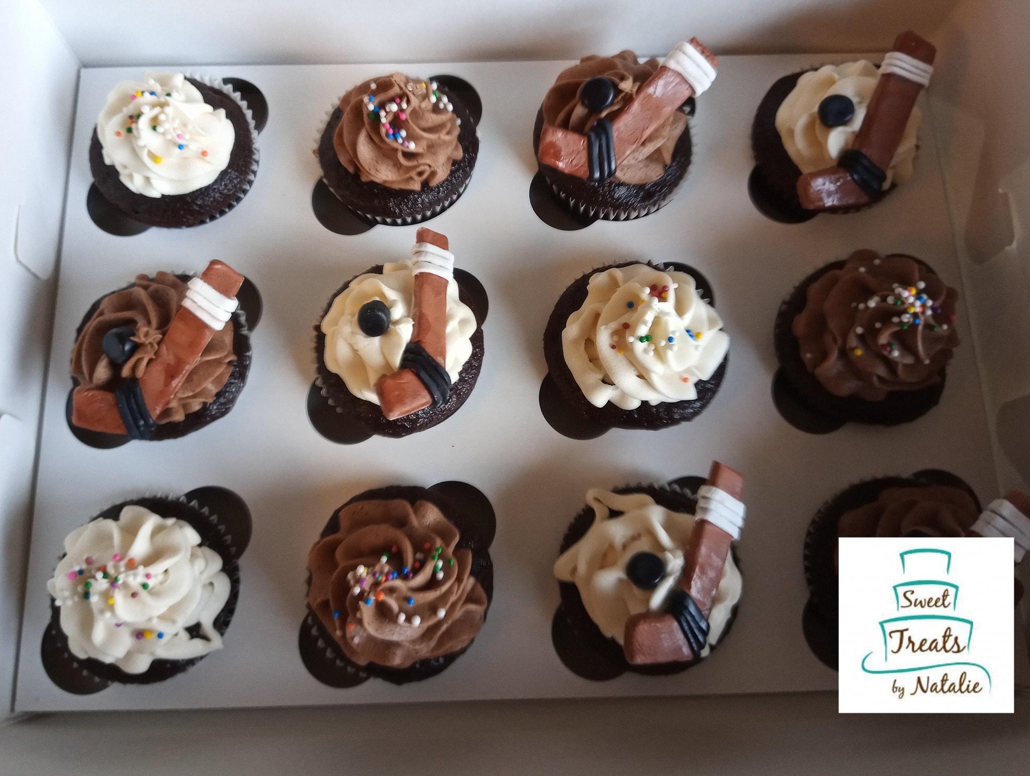 Hockey themed cupcakes