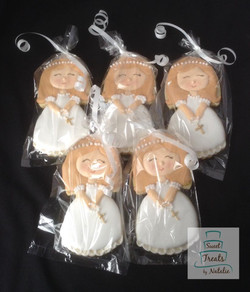 First Communion girl cookie