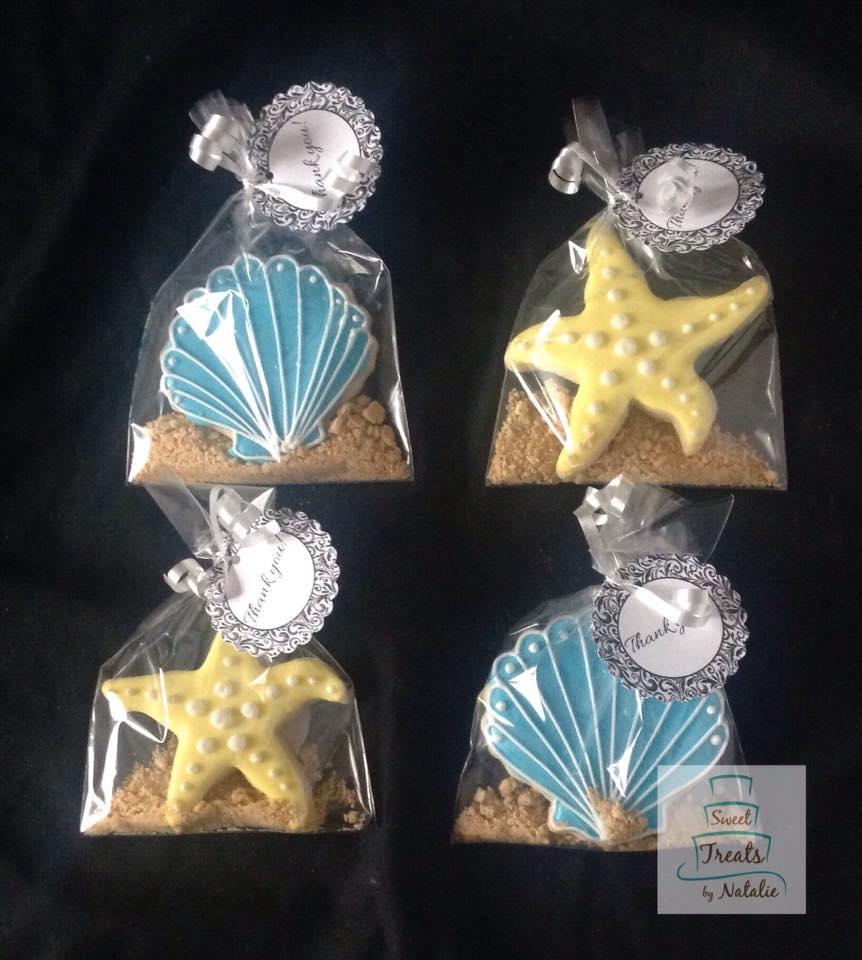 Shells & Starfish cookies